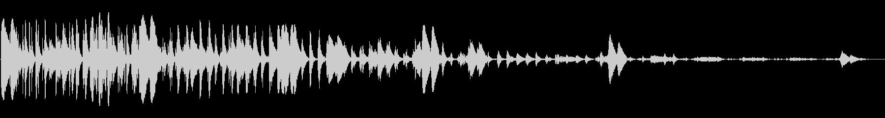 浮遊感の有る近未来的な電子音のループの未再生の波形
