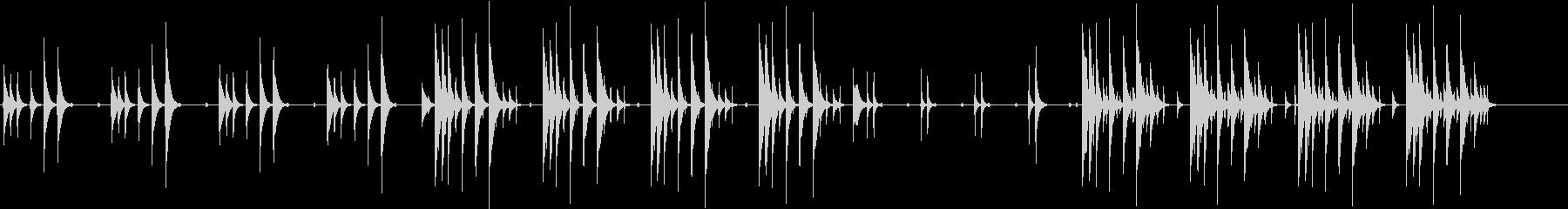 カリンバと木琴の音色で作ったほのぼの曲の未再生の波形