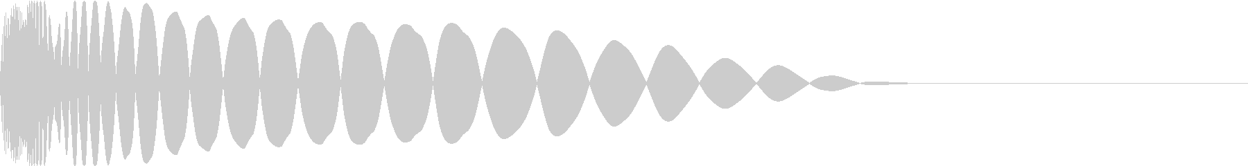 DTM Kick 58 オリジナル音源の未再生の波形