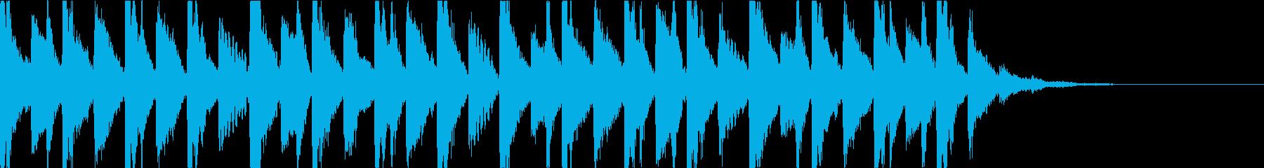 ドキドキ奇妙・ホラーミステリアスジングルの再生済みの波形