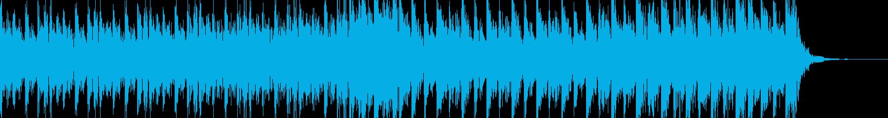緊迫感のある不気味なハードテクノ30秒の再生済みの波形