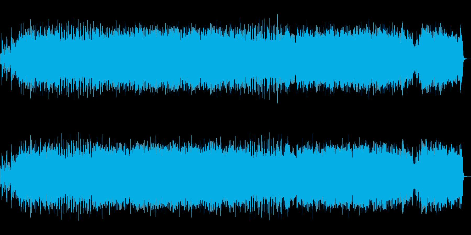 生の尺八を収録したワイルドな和風ロック!の再生済みの波形