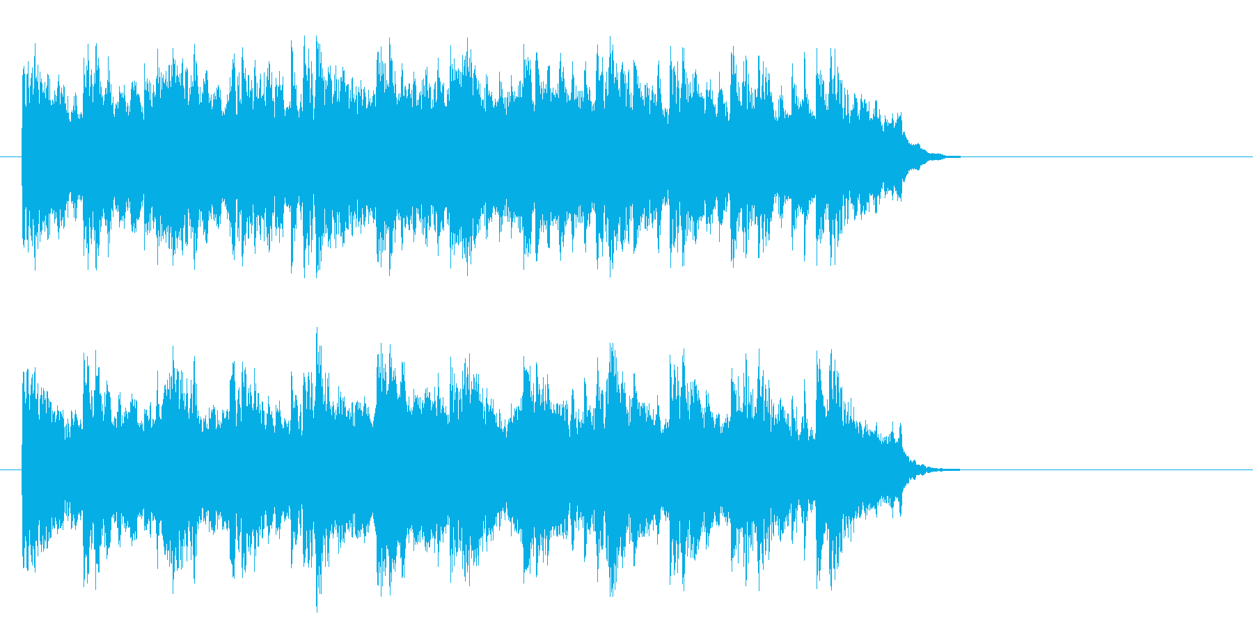 ブライダル風バラード(サビ)の再生済みの波形