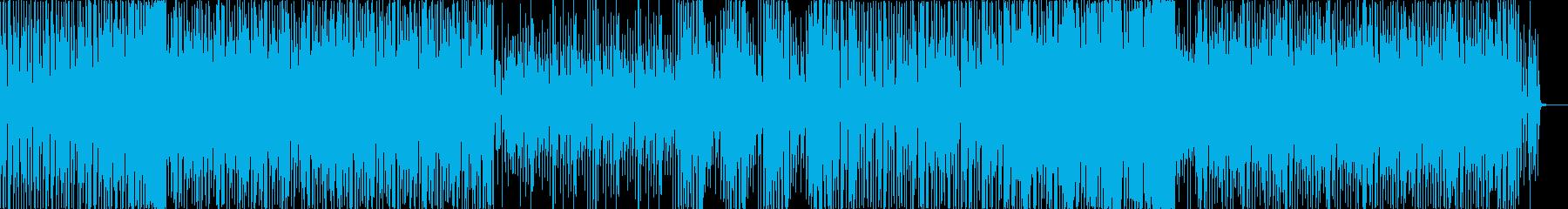 フィルターがかった懐かしめなディスコの再生済みの波形