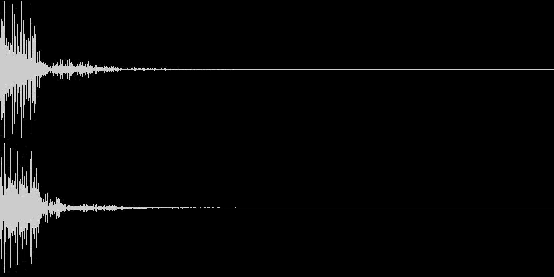 ダメージ/エラー音「ブブッ」デジタル系の未再生の波形