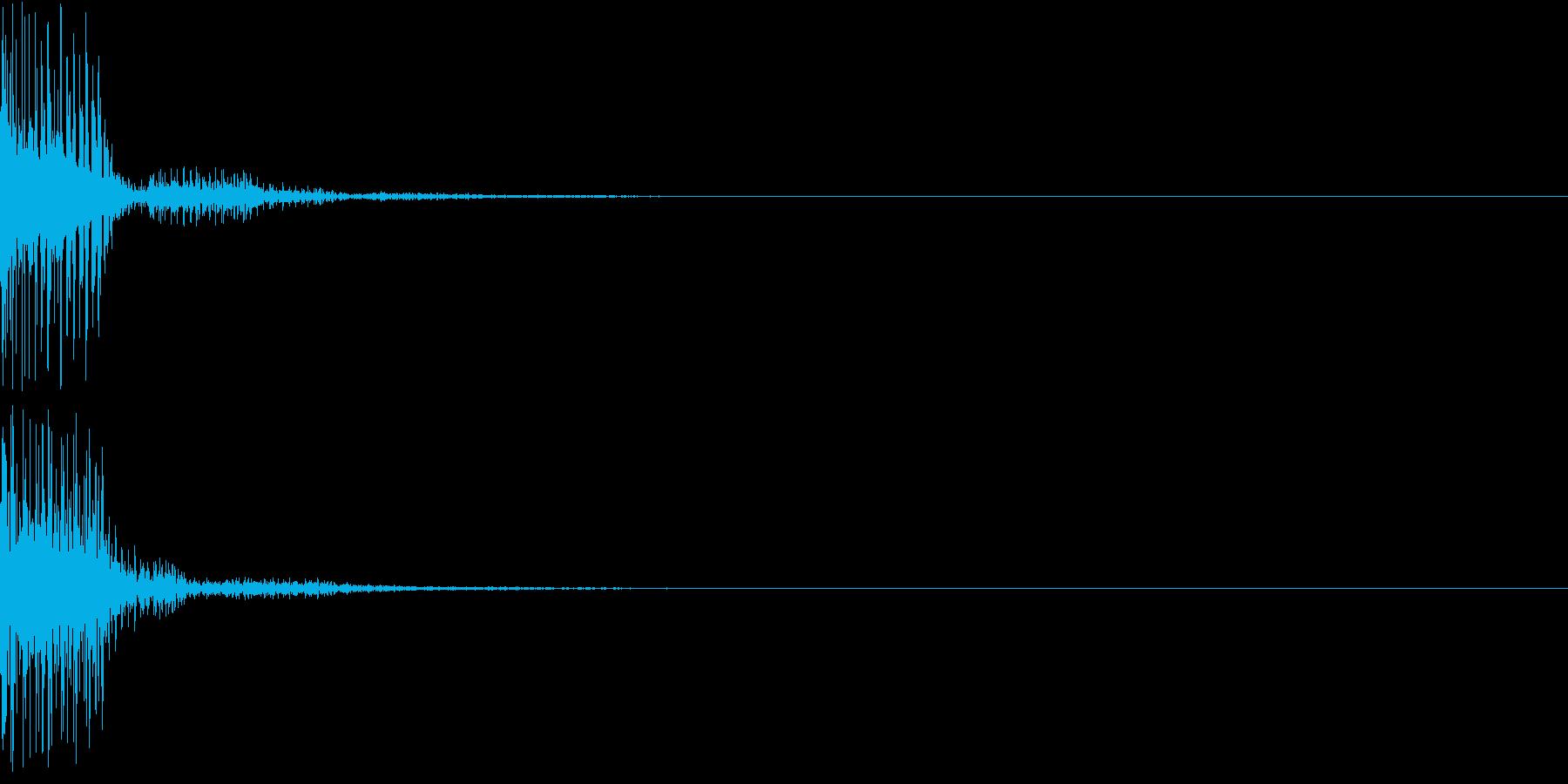 ダメージ/エラー音「ブブッ」デジタル系の再生済みの波形