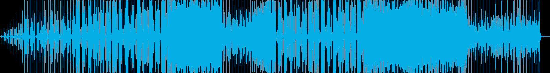 明るく爽やかなBGMの再生済みの波形