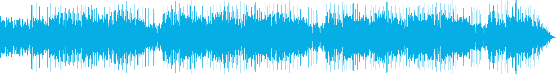 アンビエント系のヒップホップインストの再生済みの波形