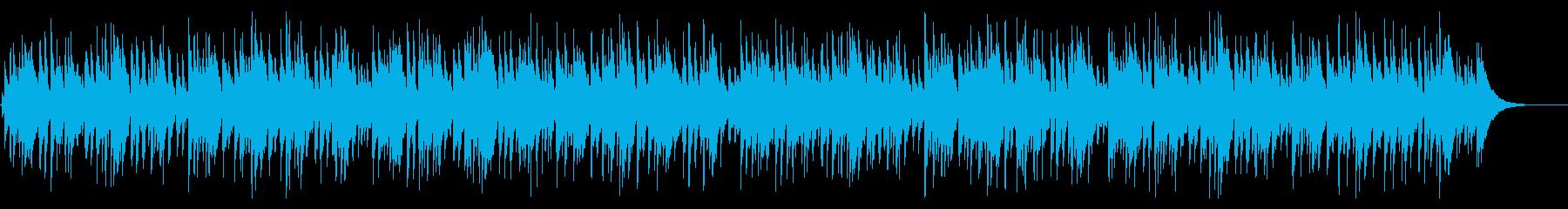 おしゃれ系アコースティックギターボサノバの再生済みの波形