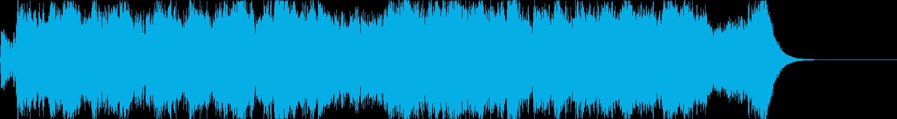 壮大で力強い和風オーケストラ-短縮版-の再生済みの波形