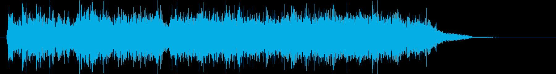 バトル、対決などに使えるジングル2の再生済みの波形