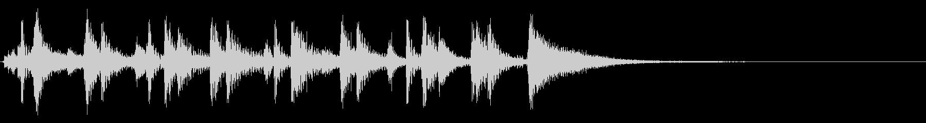 生ギター サンバで勢いのあるジングルの未再生の波形