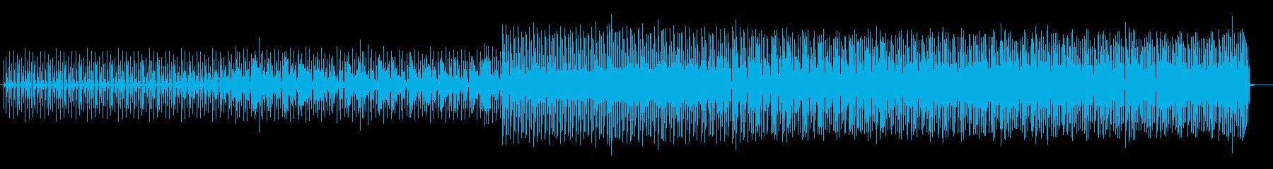 落ち着くテックハウスの再生済みの波形
