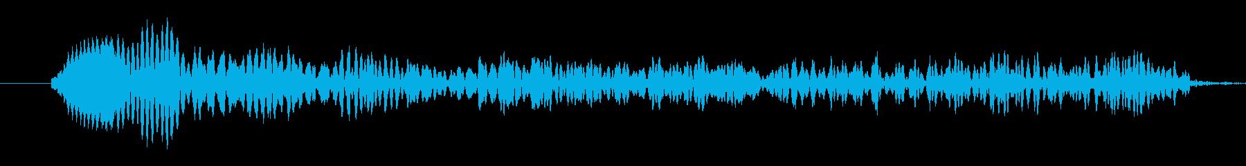 悲鳴(やや低め)の再生済みの波形