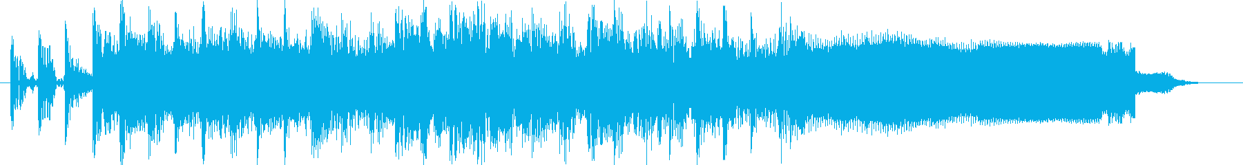 Rockな短めのジングルの再生済みの波形