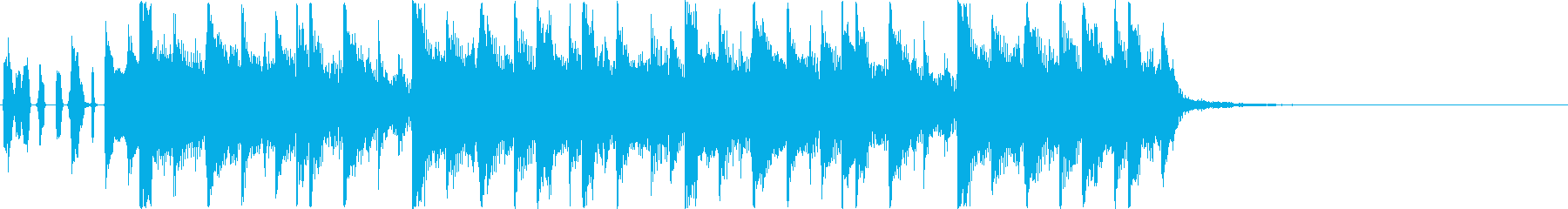 【ジングル】和楽器おしゃれHIPHOPの再生済みの波形
