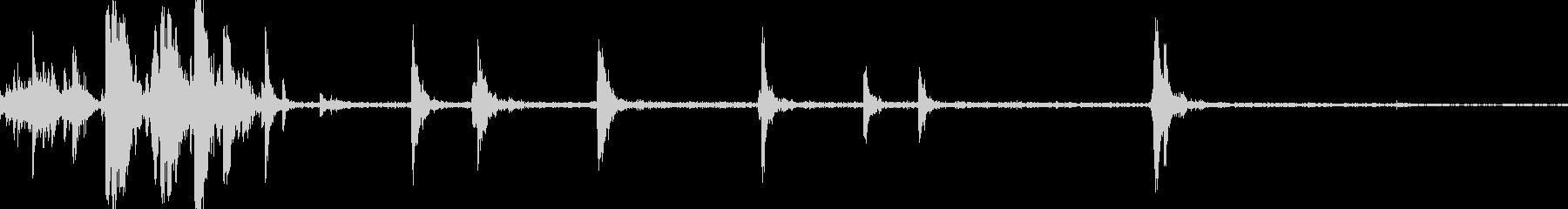 スロットマシンのレバーと実行の未再生の波形