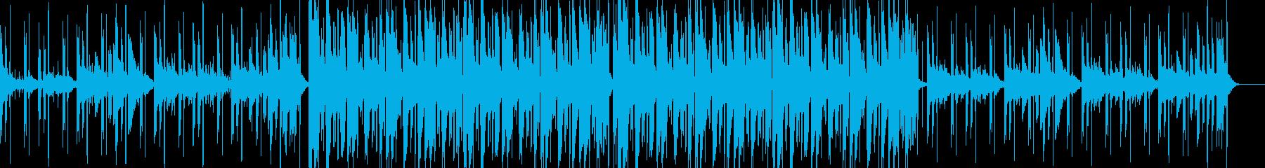 落ち着く感じのチルビートの再生済みの波形