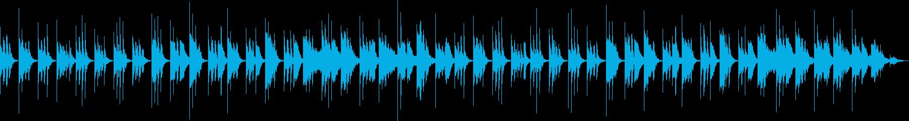 赤ちゃんの睡眠リズムを養う寝かしつけ音楽の再生済みの波形