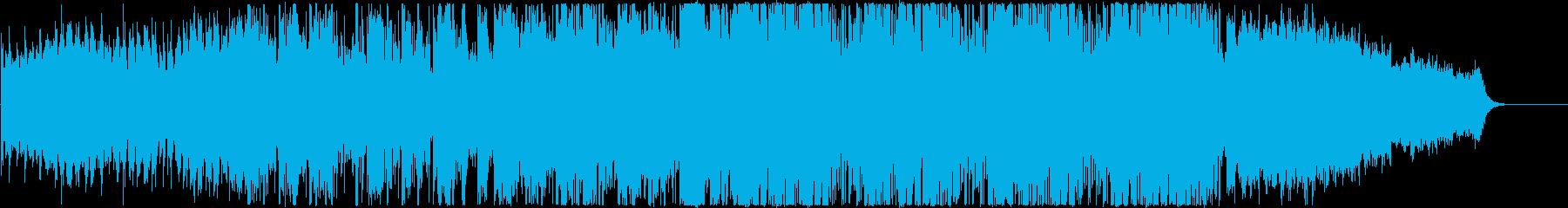 ステディでリズミックな雰囲気のテクノの再生済みの波形