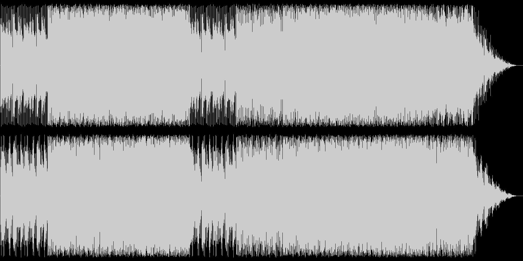 穏やかでリズミカルなシンセポップスの未再生の波形