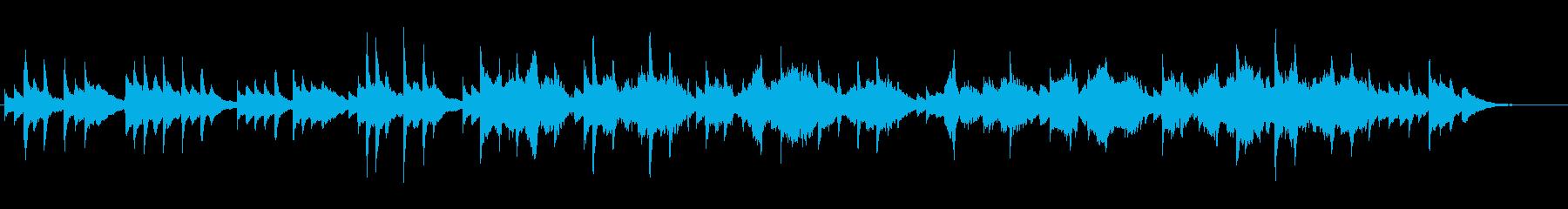ピアノとヴァイオリンのクラシック風BGMの再生済みの波形