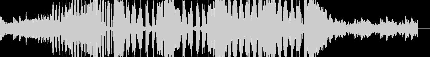 クラシックとダブステップのコラボEDMの未再生の波形