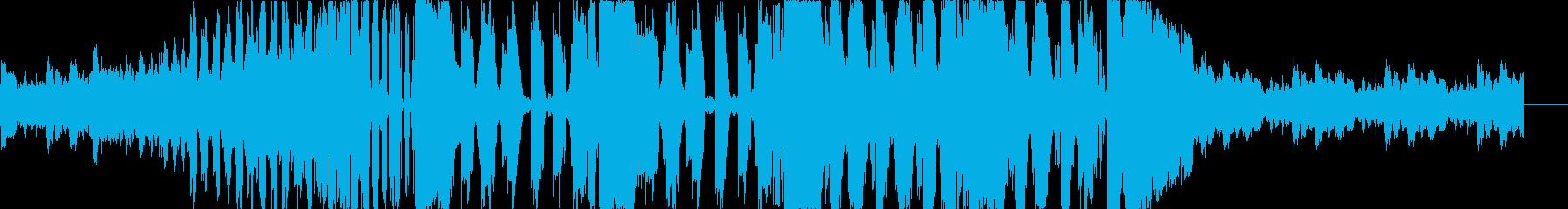 クラシックとダブステップのコラボEDMの再生済みの波形
