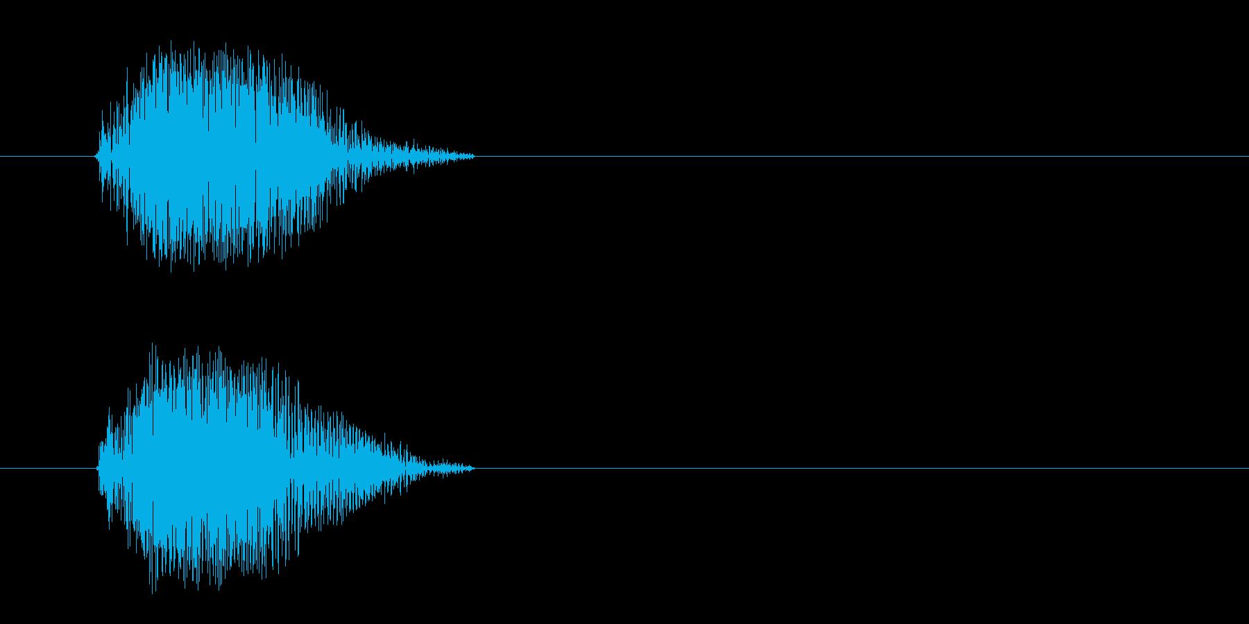 チャッ(シンプルな金属音)の再生済みの波形
