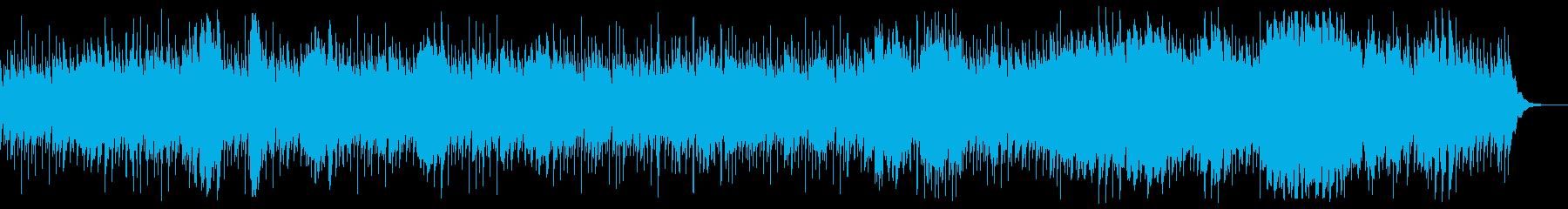 海中の原始的な生物をイメージした曲の再生済みの波形