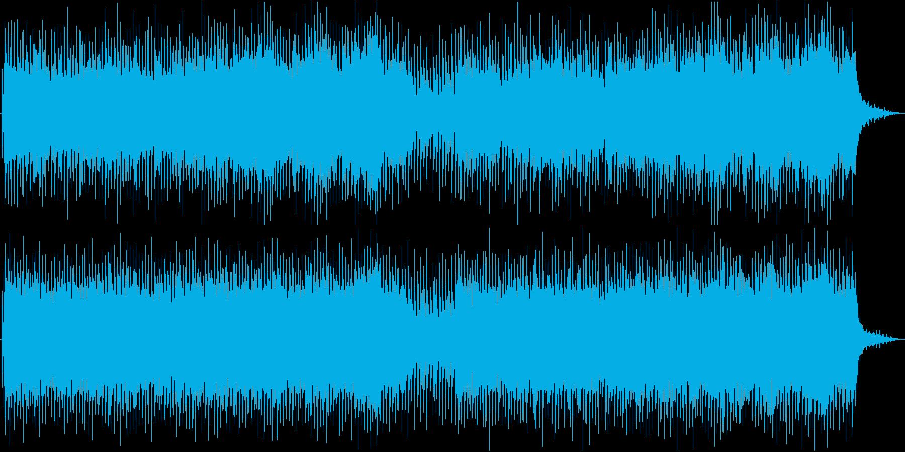 フレンチポップスのようなおしゃれな曲の再生済みの波形