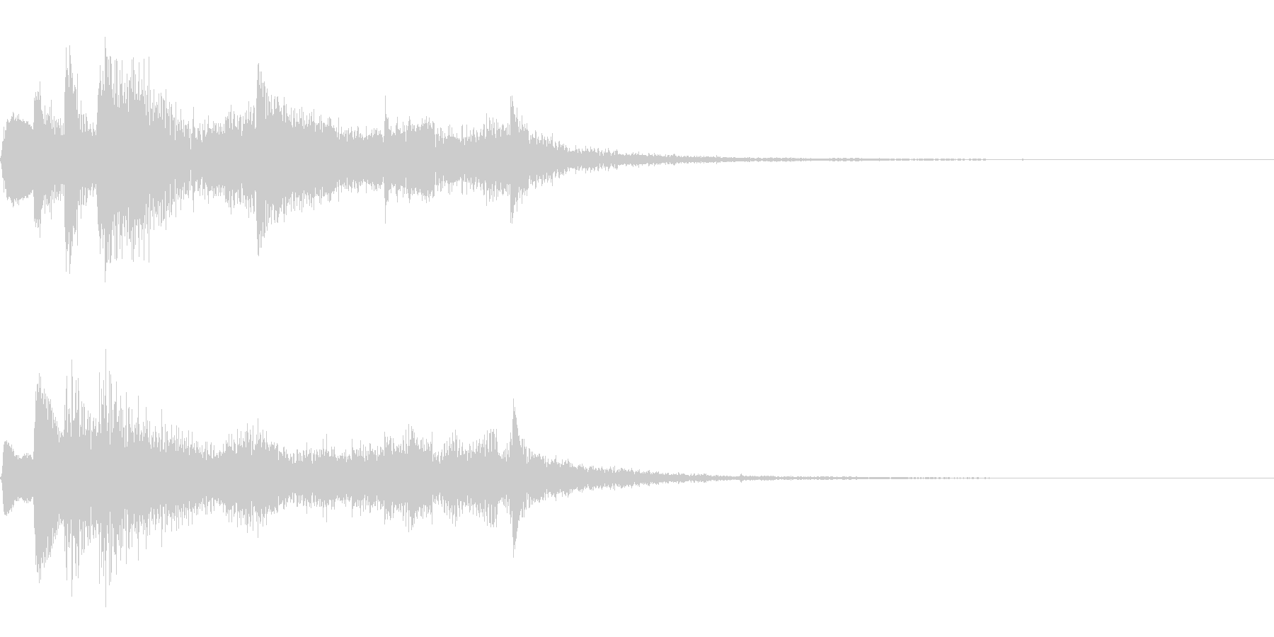 ゲーム効果音(発見、成功、ゲームクリア)の未再生の波形