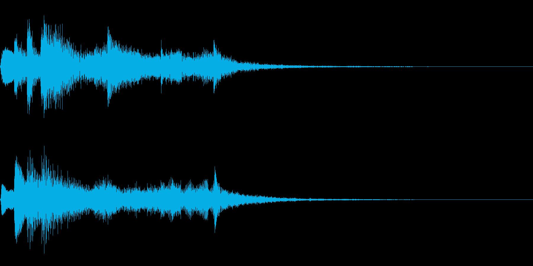 ゲーム効果音(発見、成功、ゲームクリア)の再生済みの波形