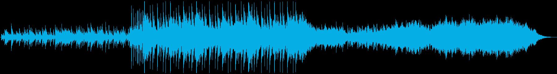 シンセ音と弦楽器の融合の再生済みの波形