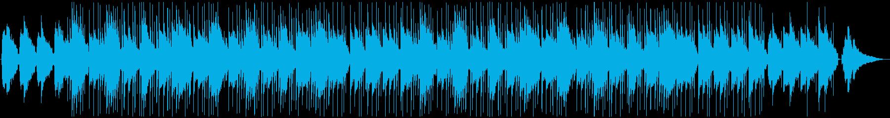 ゆったりリラックスしたエレキギターのチルの再生済みの波形