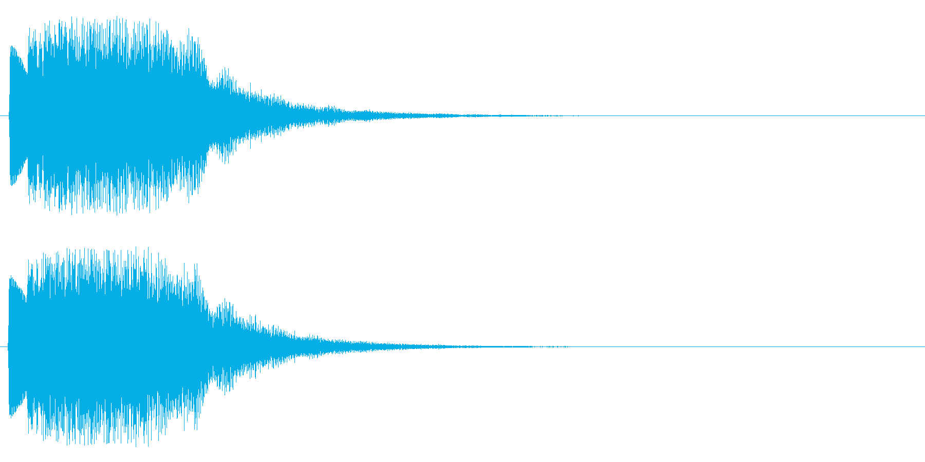 ウインドチャイム系の再生済みの波形