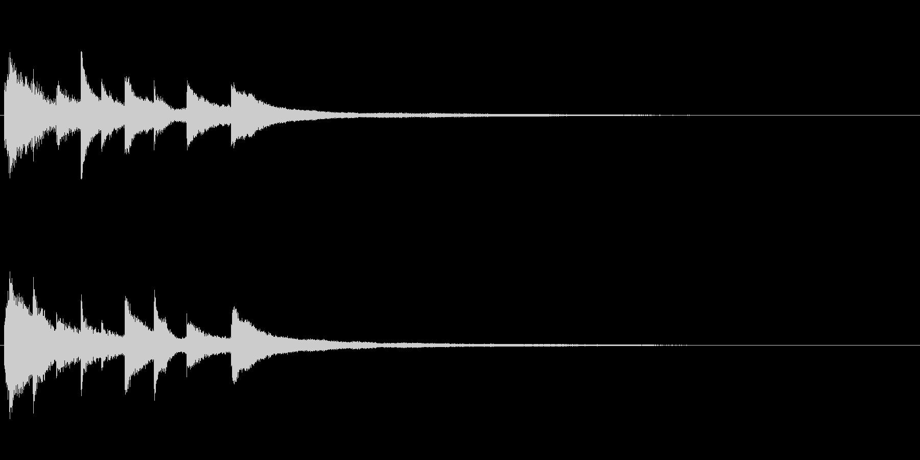 ピアノソロサウンドロゴ 優雅 大人 12の未再生の波形