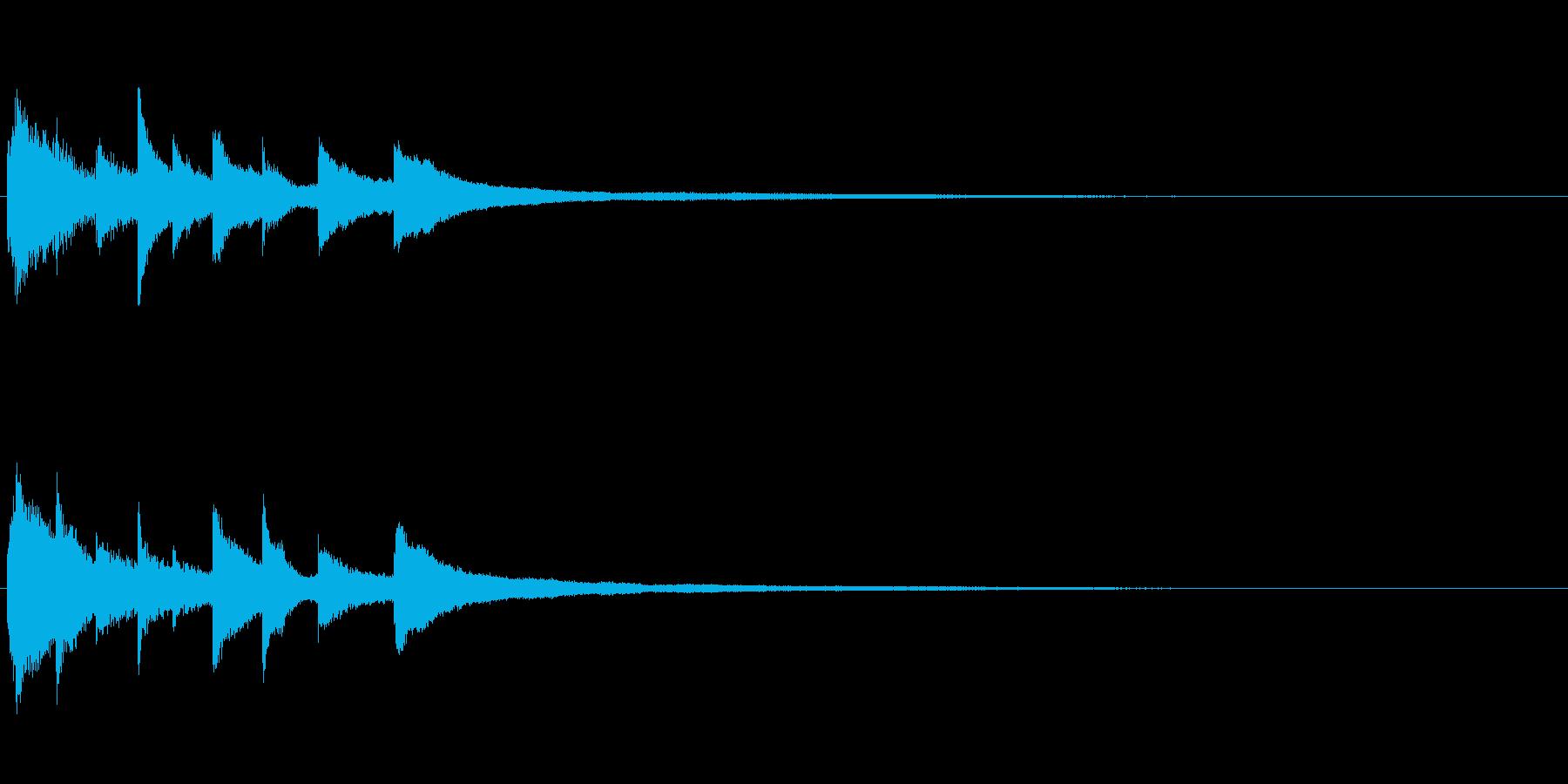 ピアノソロサウンドロゴ 優雅 大人 12の再生済みの波形