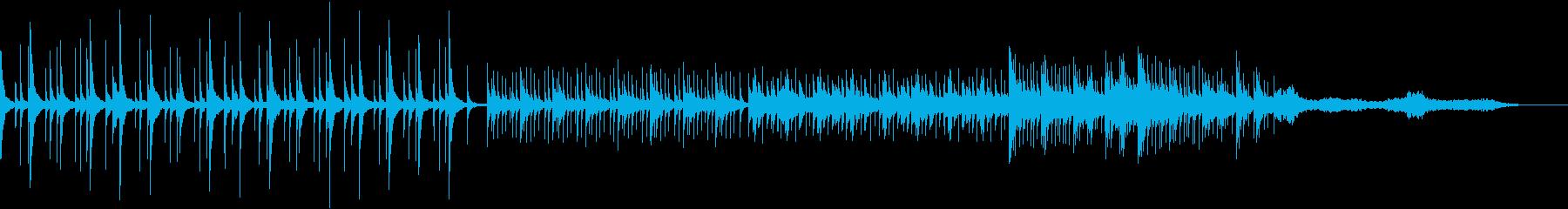 空気のように透明感のあるオルゴール曲の再生済みの波形