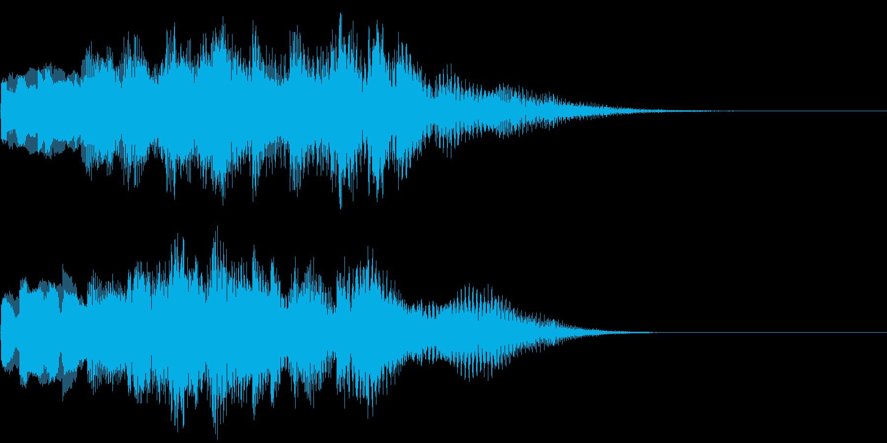 優しいチャイムお知らせタイトル ロゴ12の再生済みの波形