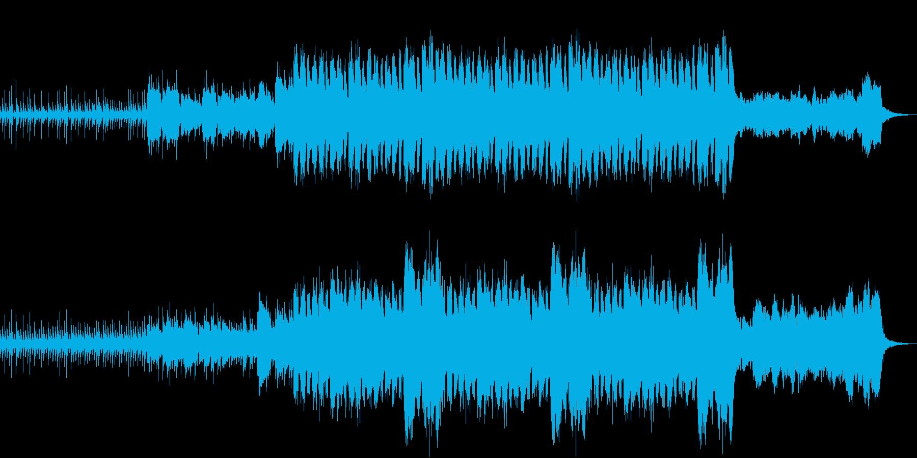 オリエンタルな響きのシネマライクな楽曲の再生済みの波形