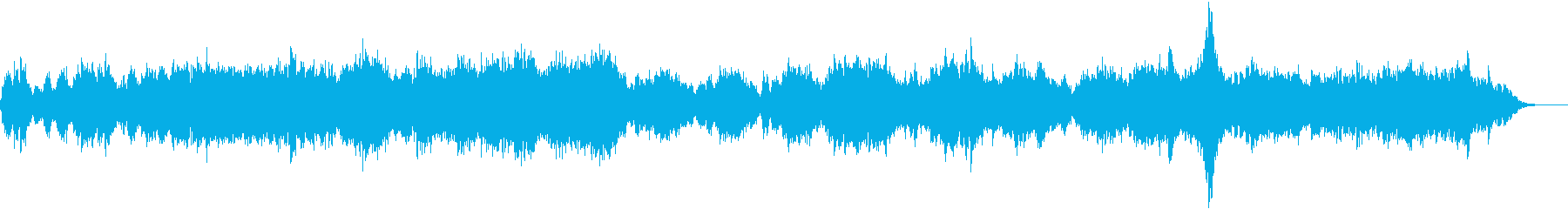 Fantastic synthesizer ambient music's reproduced waveform