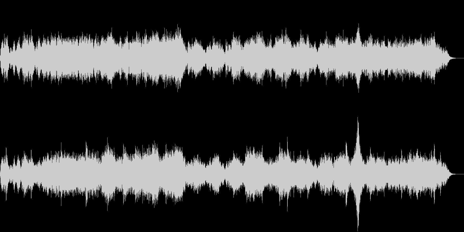 幻想的なシンセサイザーのアンビエント音楽の未再生の波形