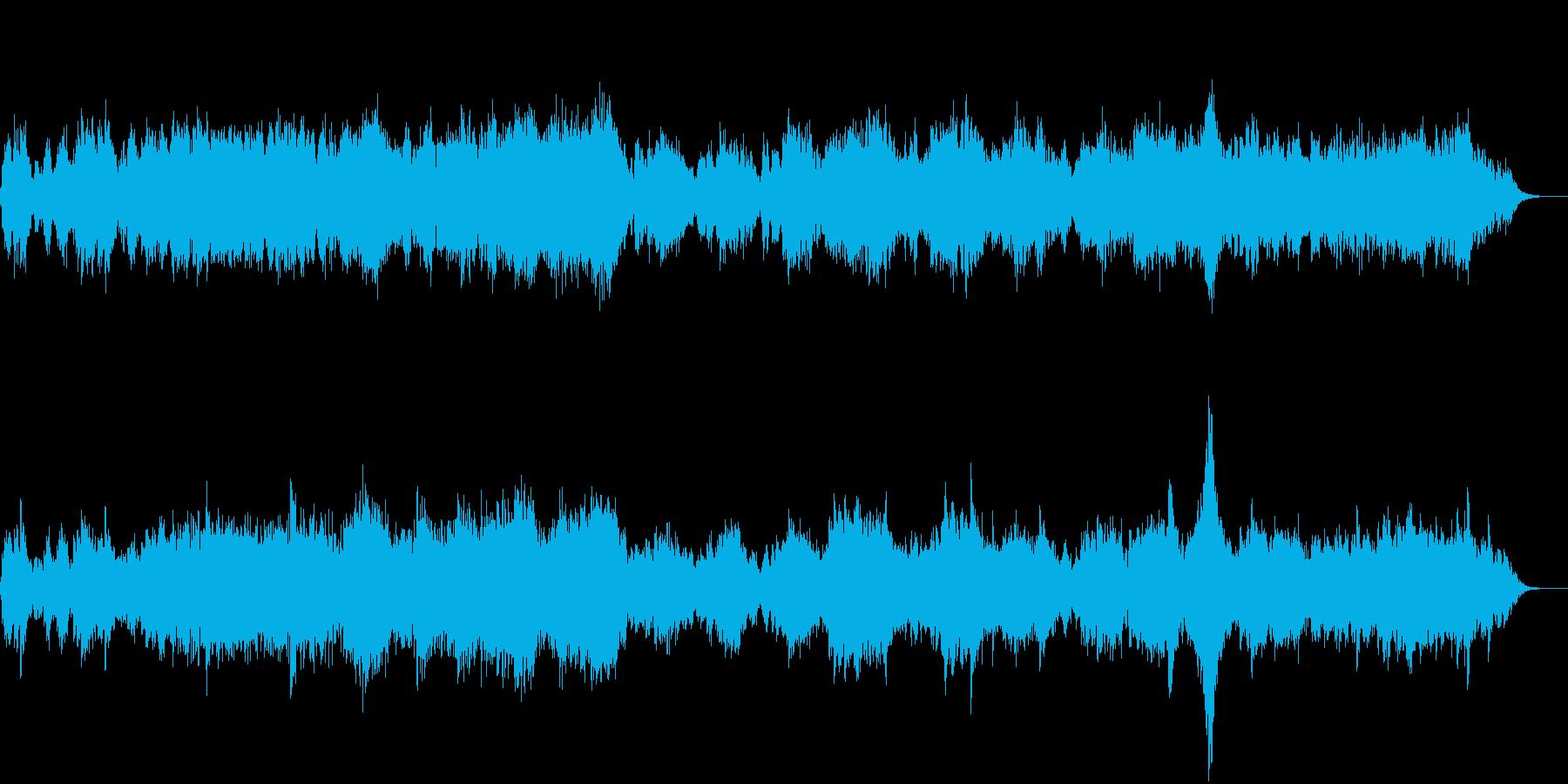 幻想的なシンセサイザーのアンビエント音楽の再生済みの波形