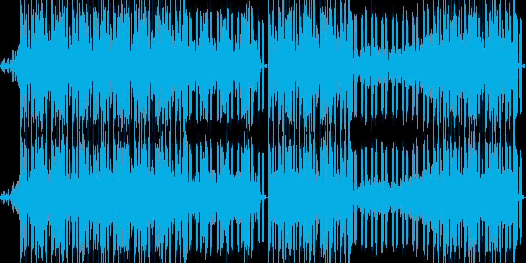 ダークでデジタルなロックの再生済みの波形