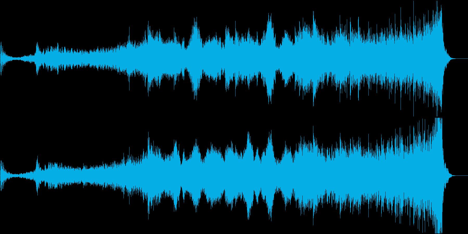 ハリウッド風ダークなアンビエントの再生済みの波形