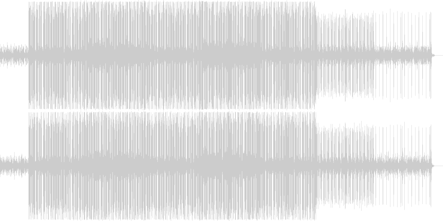 バーチャルな電脳世界の軽快なBGMの未再生の波形