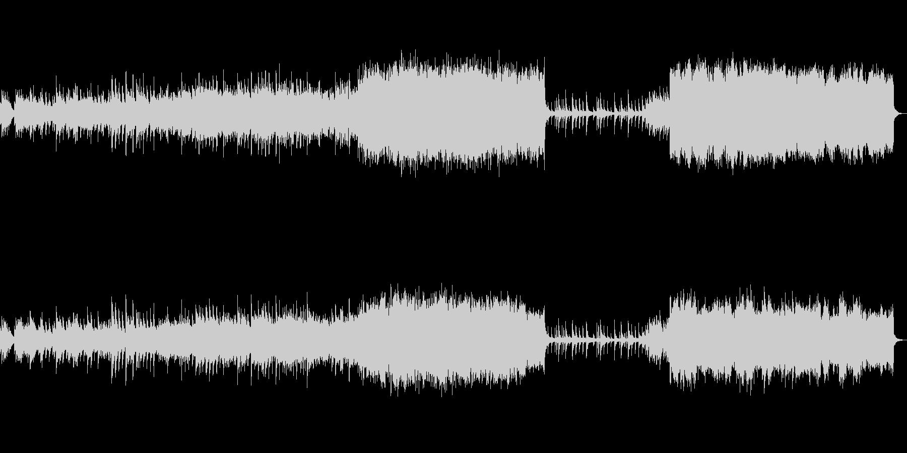 ピアノとストリングスのノスタルジックな曲の未再生の波形