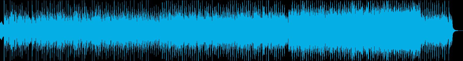 近未来的な明るくかわいいテクノポップの再生済みの波形