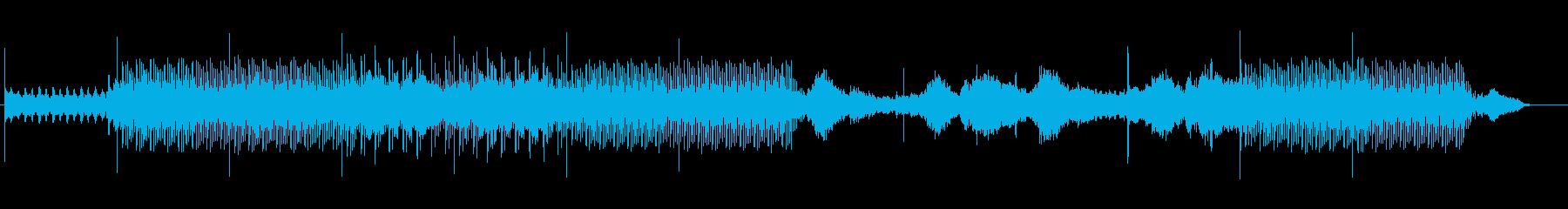 おしゃれで幻想的なアンビエントBGMの再生済みの波形